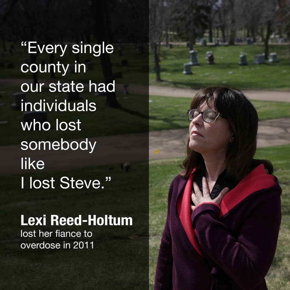 Lexi Reed Holtum lost her fiance, Steve, to opioid overdose.