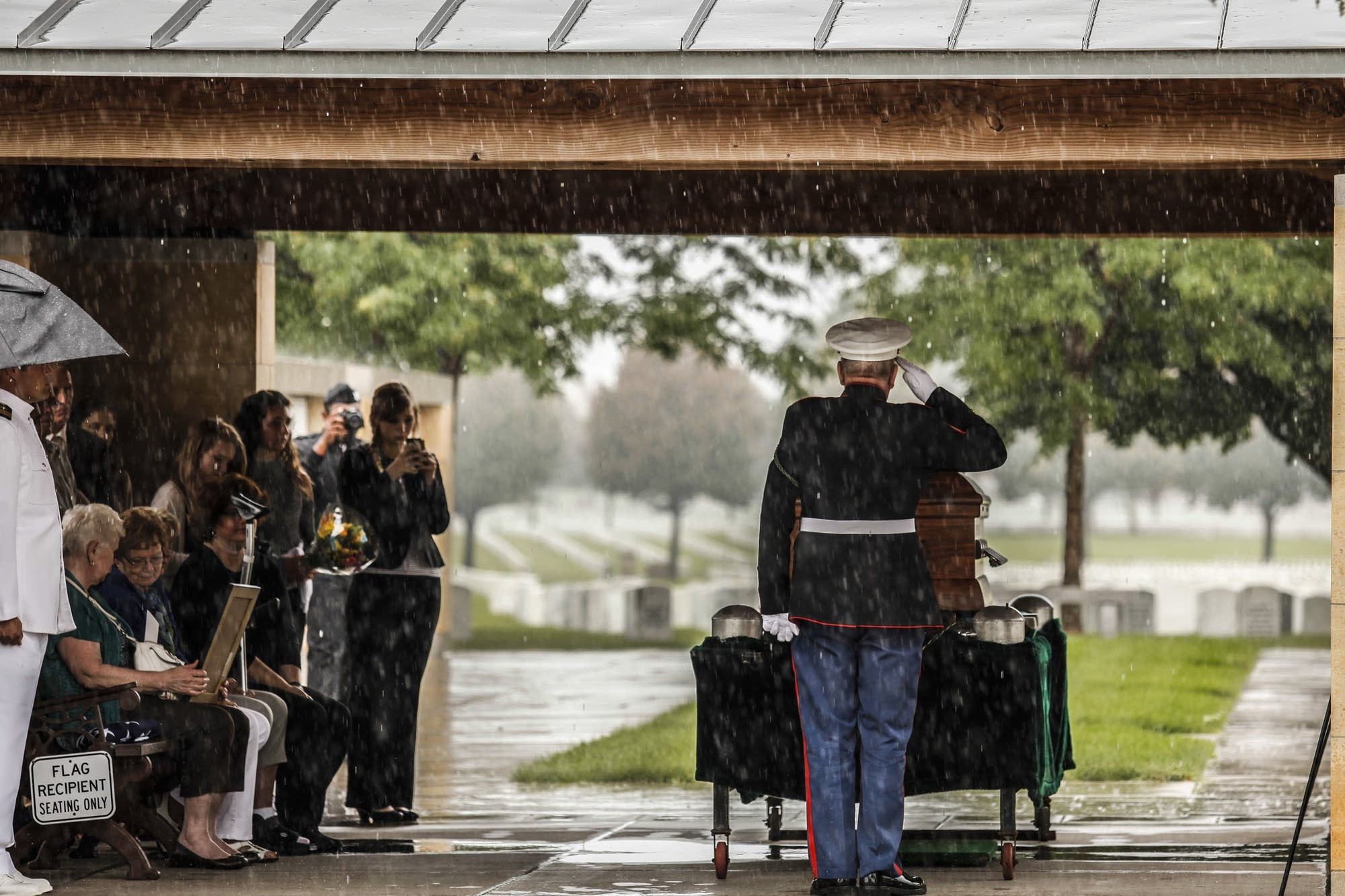 Memorial was held for Kenneth Holm, a Pearl Harbor Navy Fireman 3rd class.