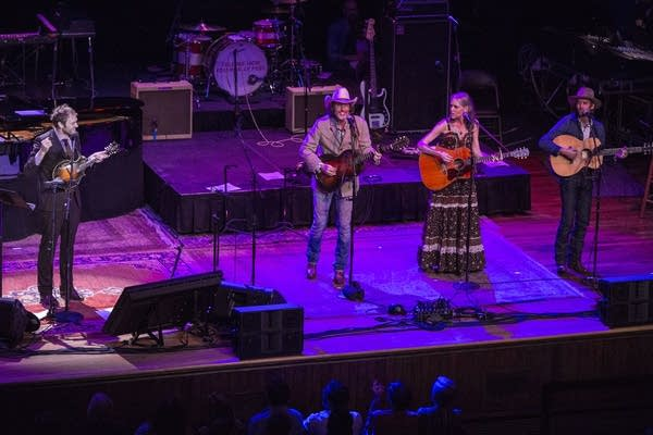 Chris Thile, David Rawlings, Gillian Welch and Willie Watson.