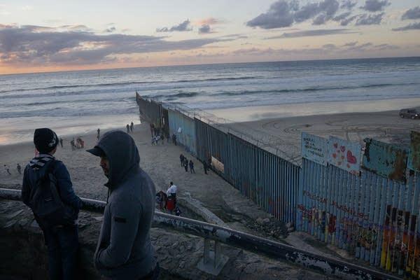 The U.S.-Mexico border fence.