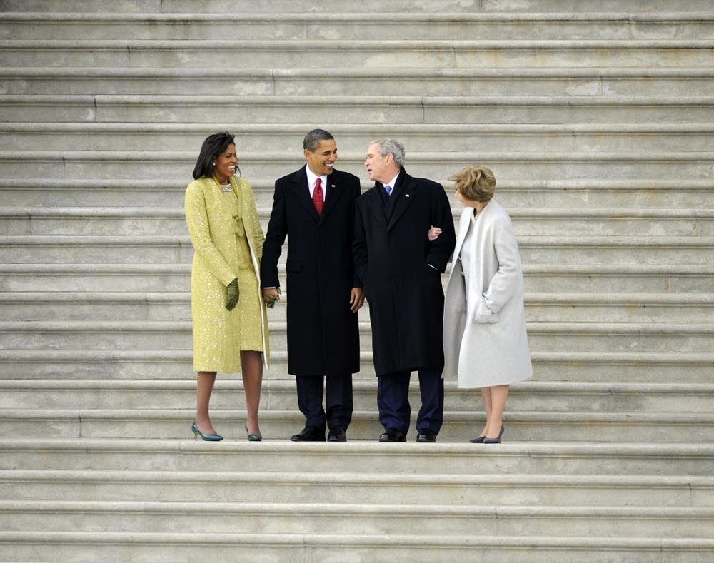Bush with Obama