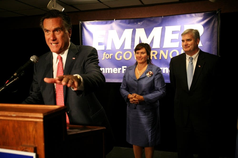 Mitt Romney and Tom Emmer