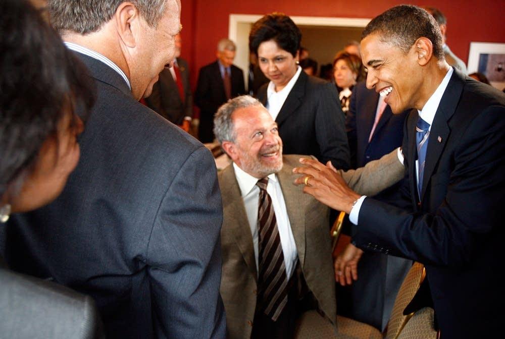 Robert Reich and Barack Obama