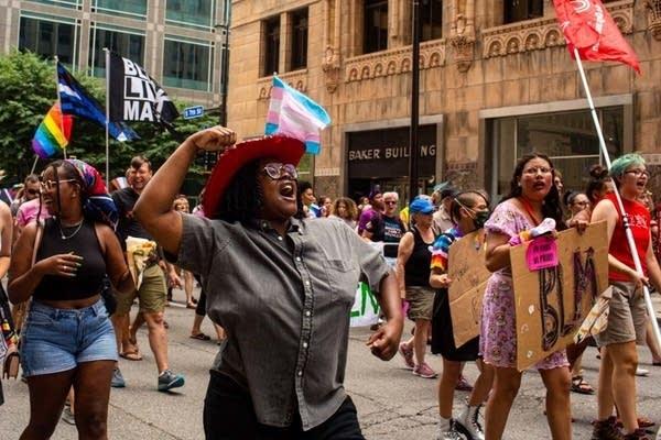 Taking Back Pride march in Minneapolis