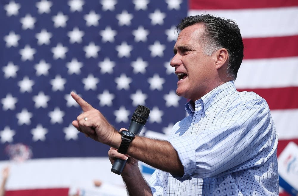 Mitt Romney Attends Campaign Rally In Virginia