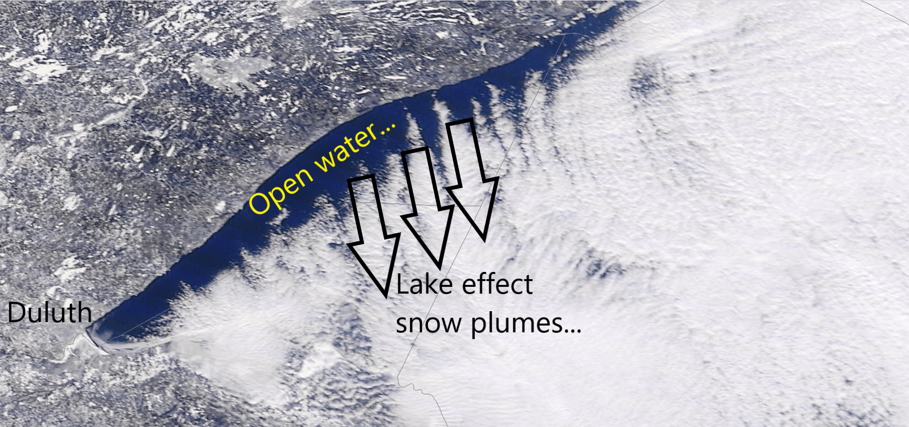 Lake Superior ice cover Wednesday afternoon