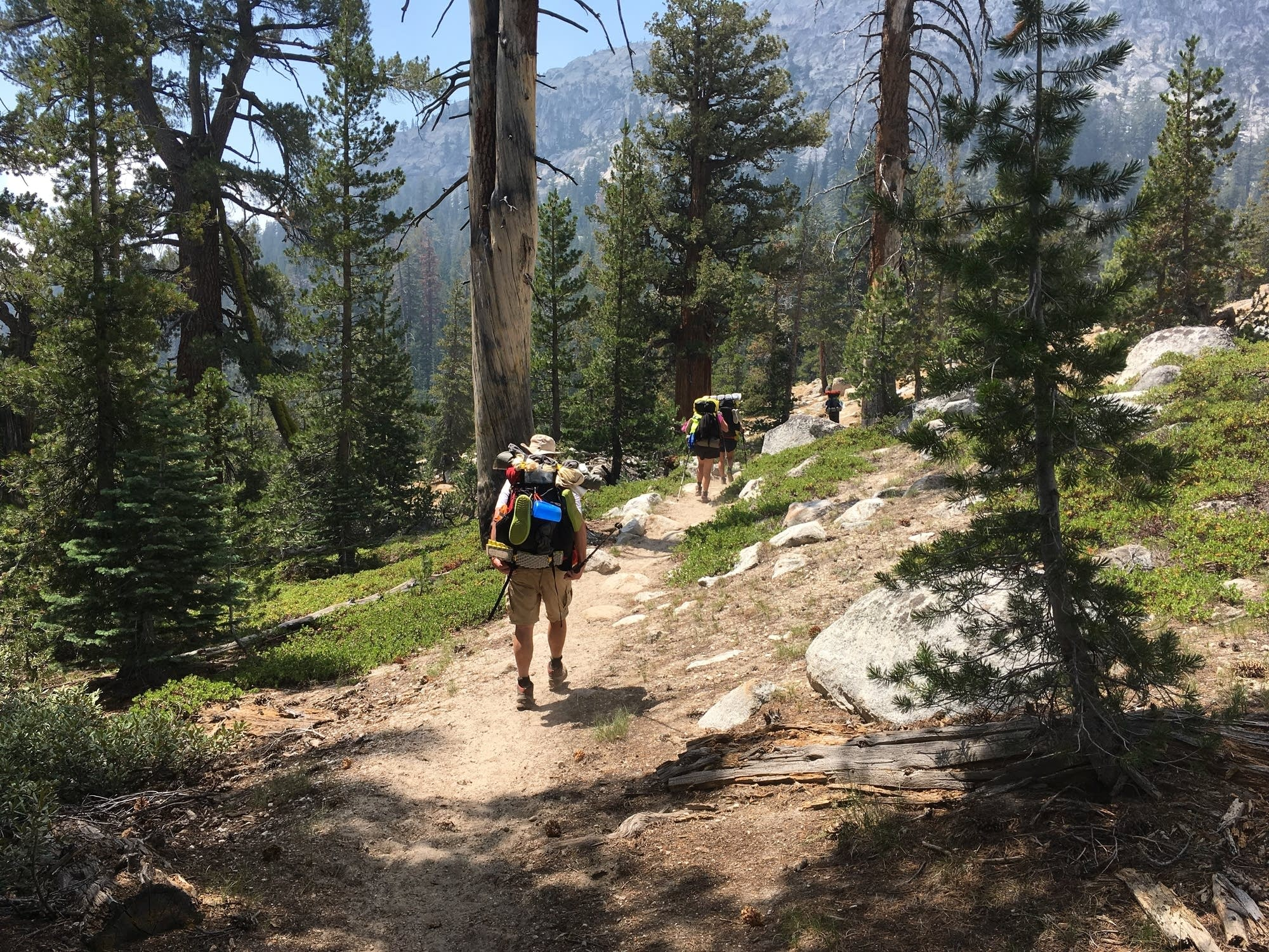 The hikers on the PCT