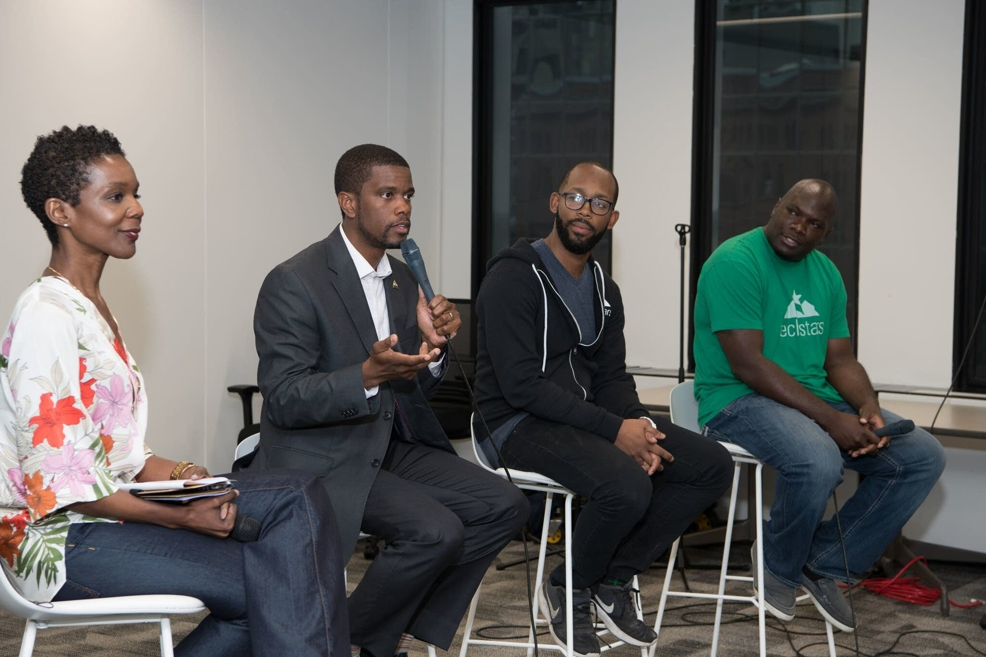 St. Paul Mayor Melvin Carter and others at Techquity meeting in June, 2018.