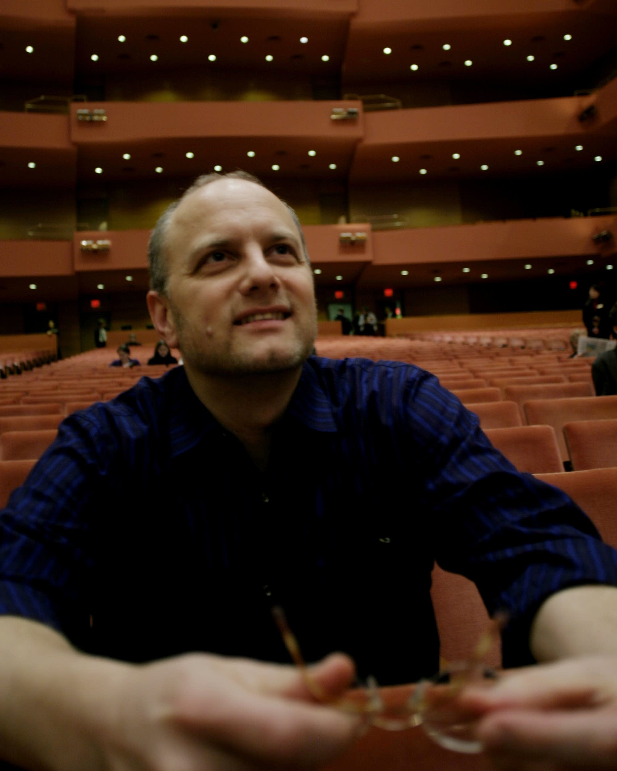 Brian Newhouse sits at Orchestra Hall in Minneapolis in 2005.