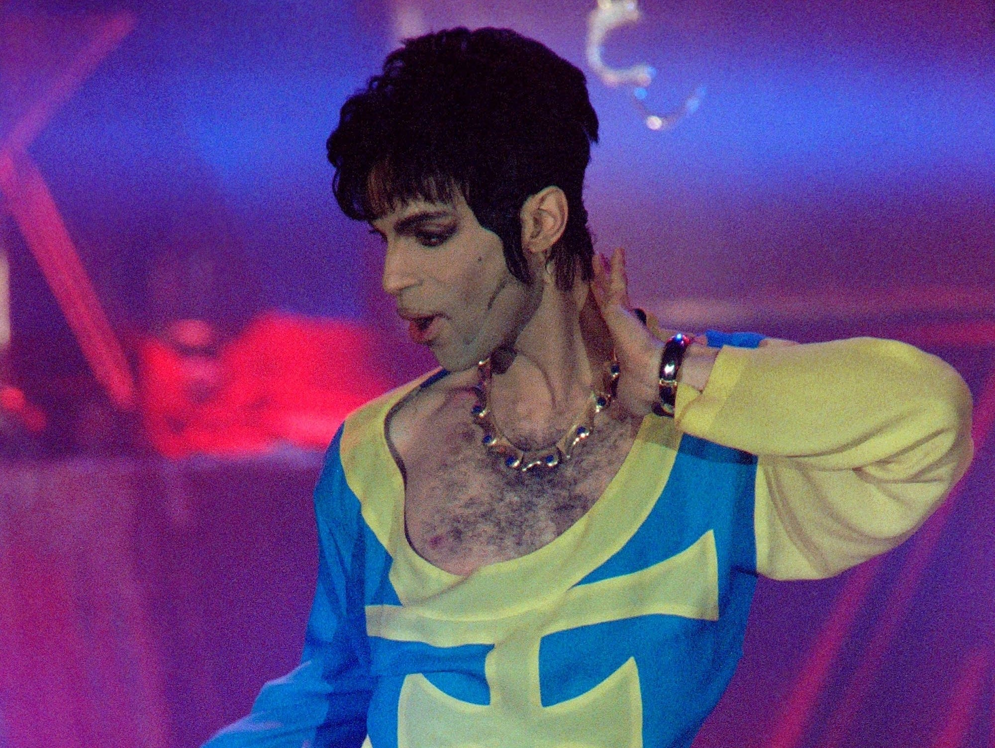 Prince performs in Monaco in 1994.