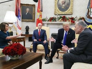 President Trump meets with Nancy Pelosi and Chuck Schumer
