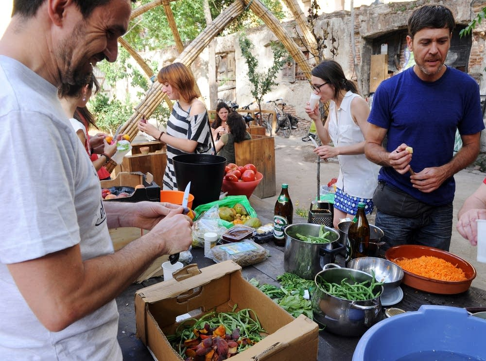 An activist group against food waste