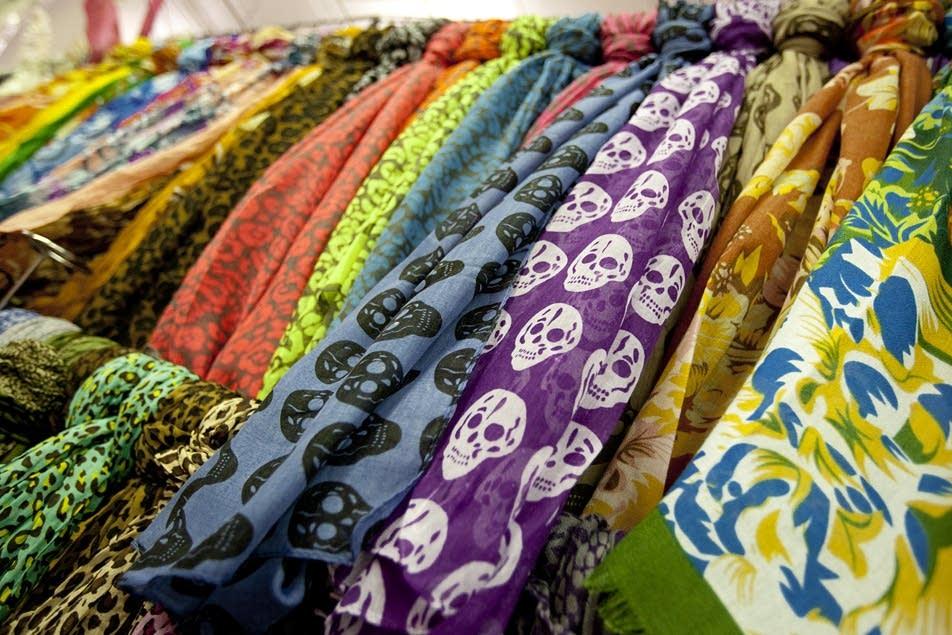 Skull-print scarves