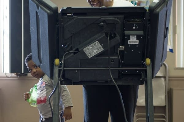 File photo: Voting at the First Baptist Church of Ferguson