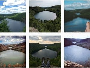 A screenshot of Instagram search results for #beanandbearlake