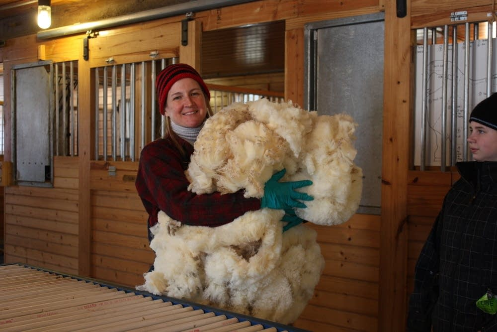 Armful of wool