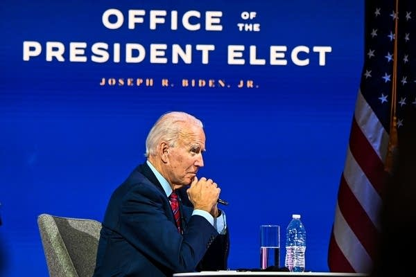 Joe Biden participates in a meeting with the U.S. Conference of Mayors