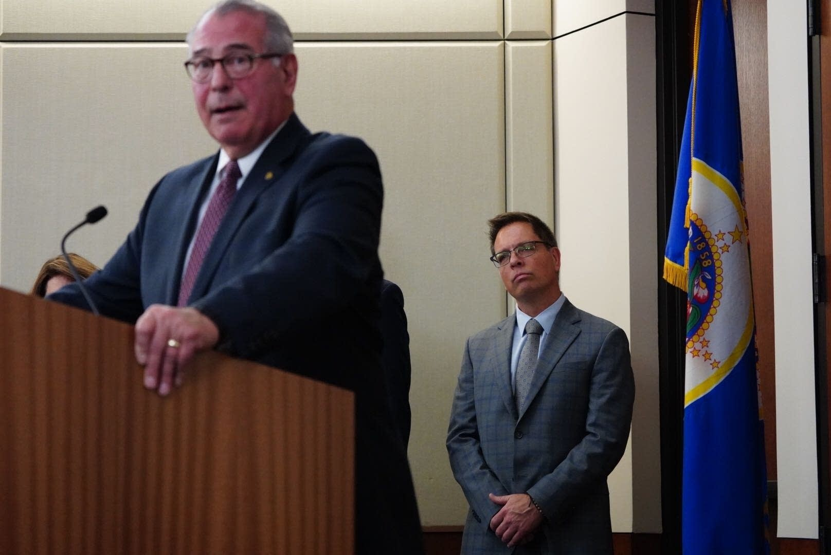 Hennepin County Attorney Mike Freeman and Don Damond