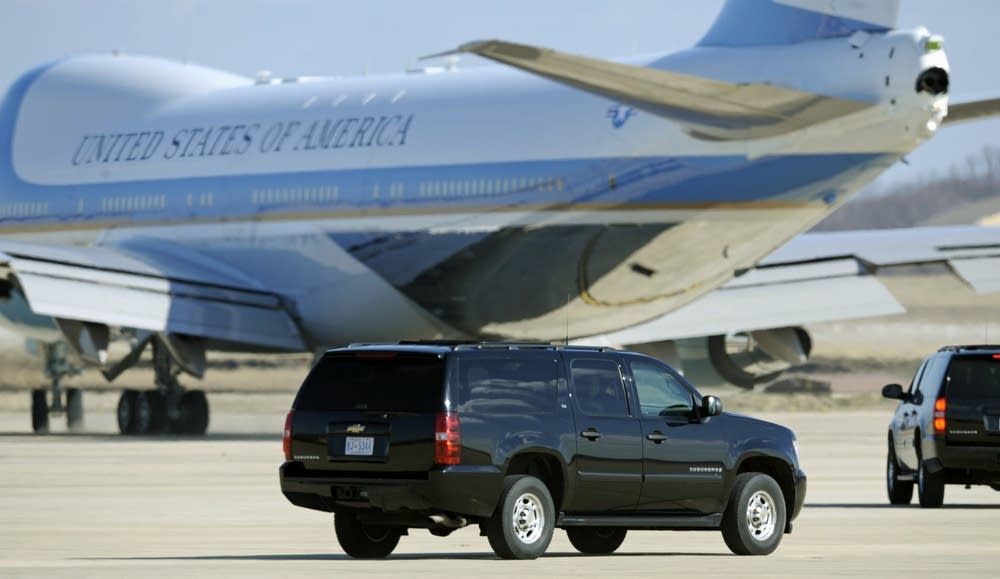 Following Air Force One