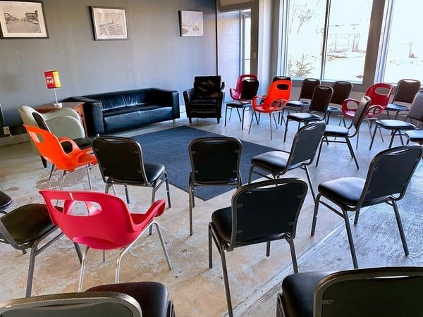 Chairs in a circle at Northeast Recovery Room