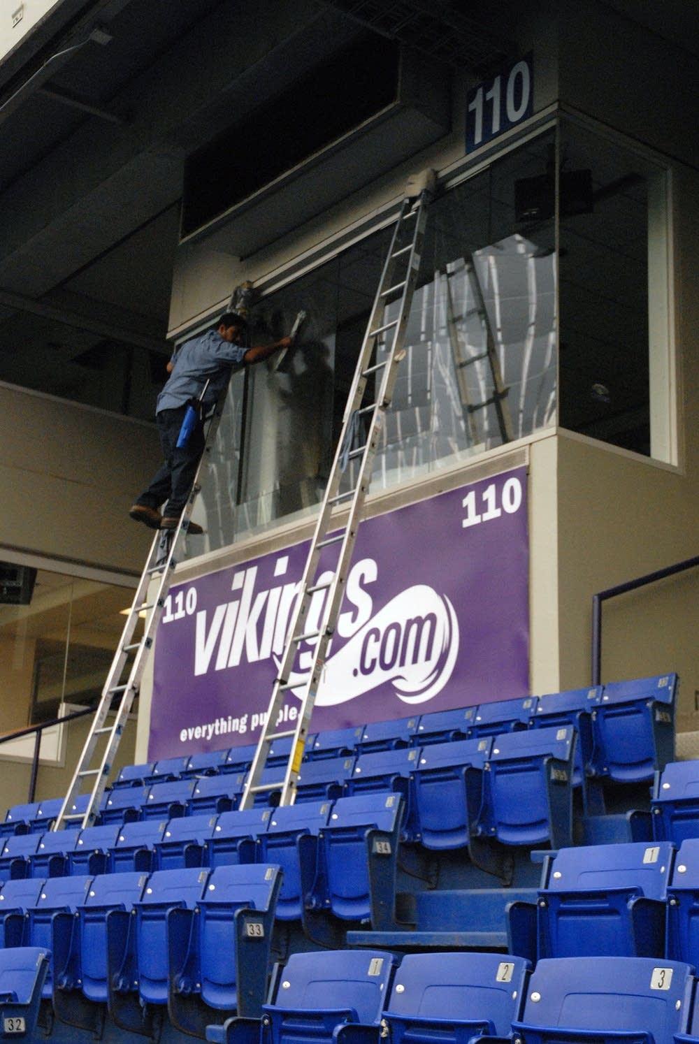 Stadium preparation