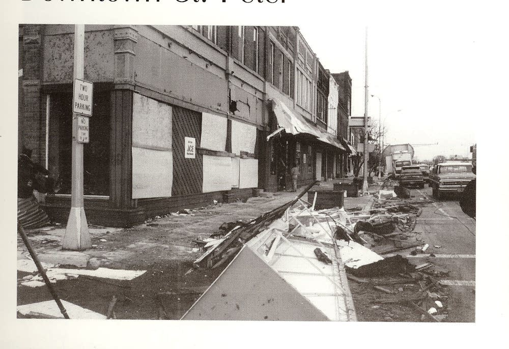 Downtown post-tornado