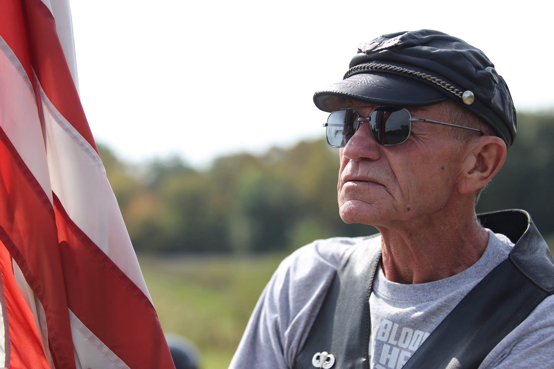 Chester Gould, 73, has been a member of the Minn. Patriot Guard since 2006.