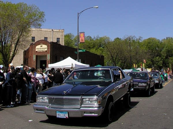 Lowriders in the parade