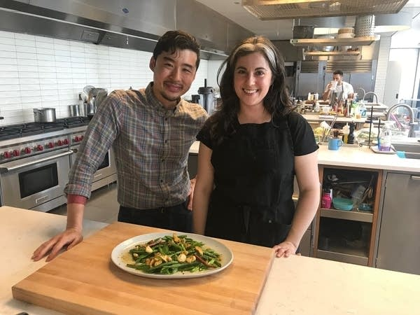 Francis Lam and Clarie Saffitz in Bon Appetit test kitchen