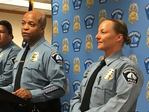 MPD Chief Arradondo announces the appointment of Sgt. Katie Blackwell.