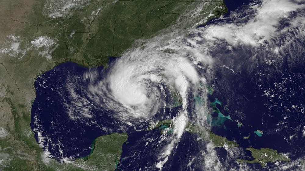 Then-Tropical Storm Isaac