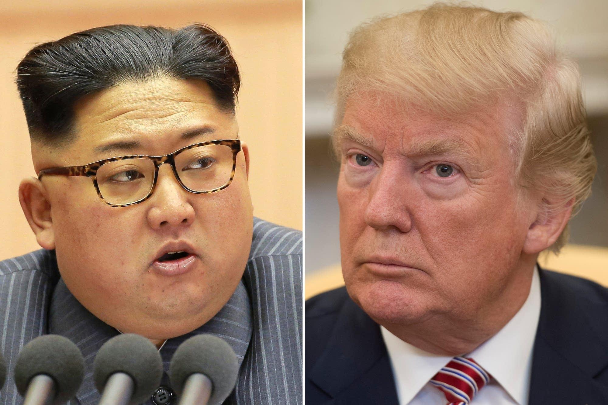 Kim Jong Un and President Trump
