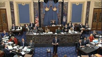 Trial highlights: Democrats roll out case as senators fidget