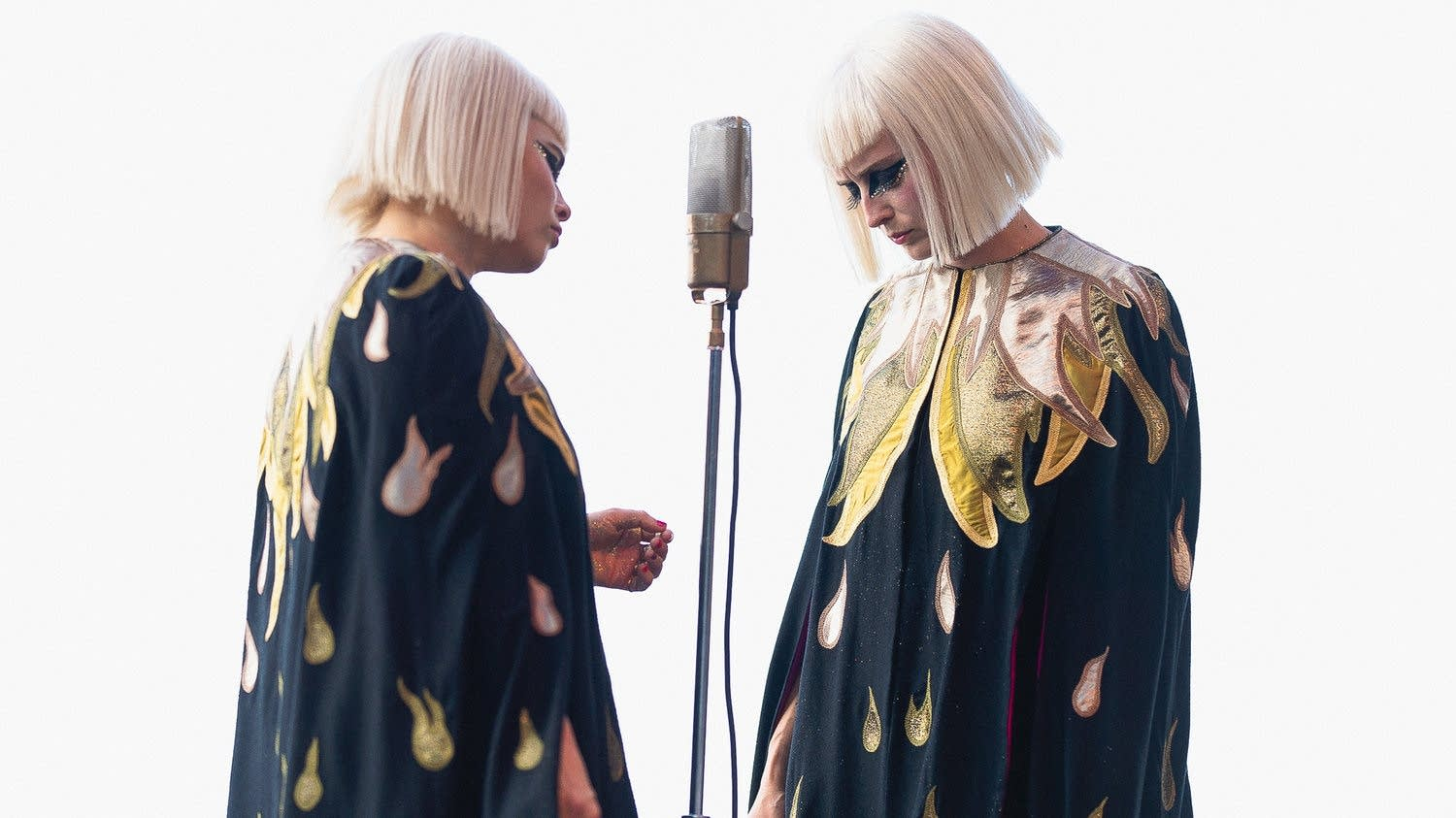 Lucius at the 2018 Newport Folk Festival.