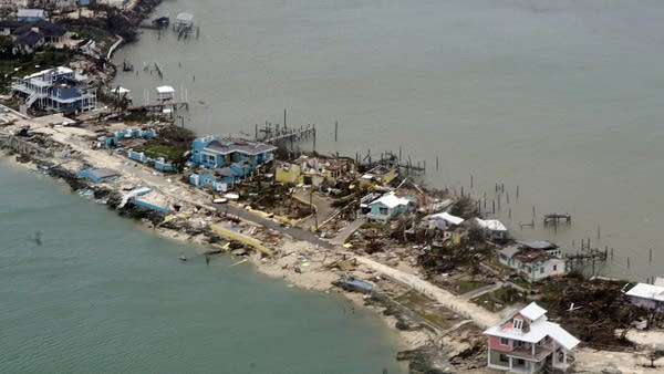 A path of destruction on an island
