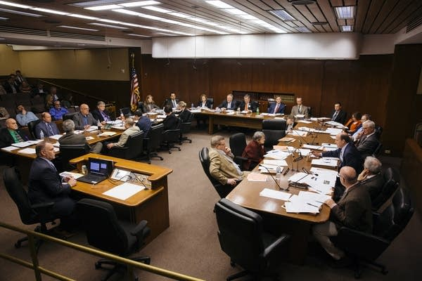 The House Transportation Finance Committee debates two amendments