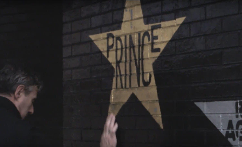 Daniel Corrigan pauses at the Prince star