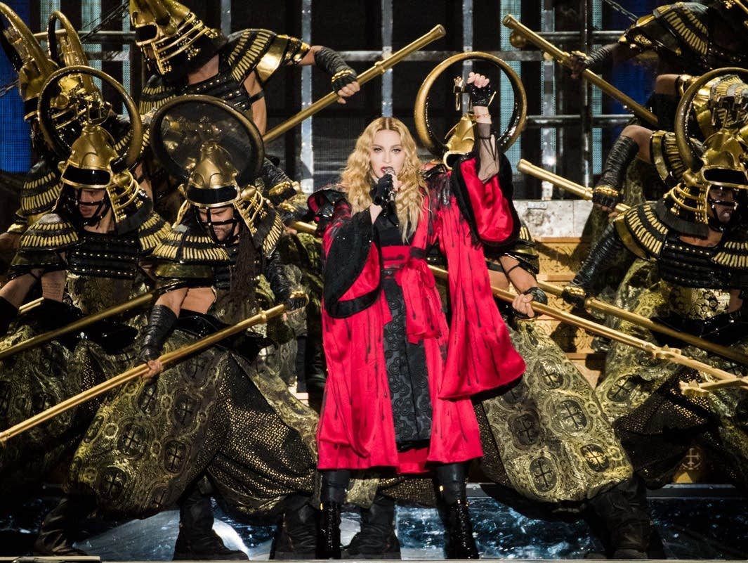 Madonna performs at the Xcel Energy Center.