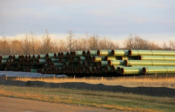 Pipes for Sandpiper pipeline project