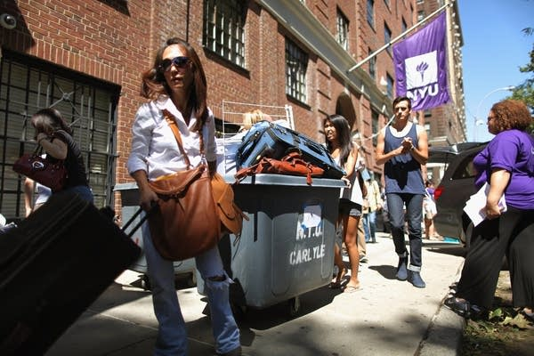 NYU dorm move-in