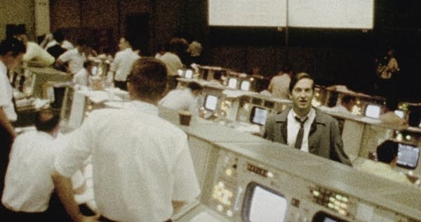 NASA control room during the moon mission.