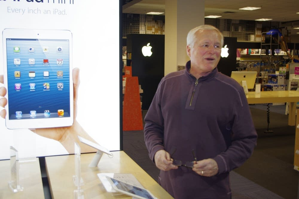 Apple shopper Bill Nelson, of Woodbury