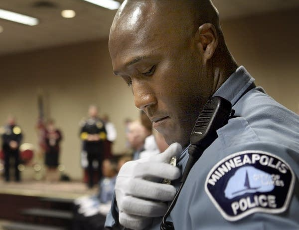 Michael Griffin at police academy graduation, 2007