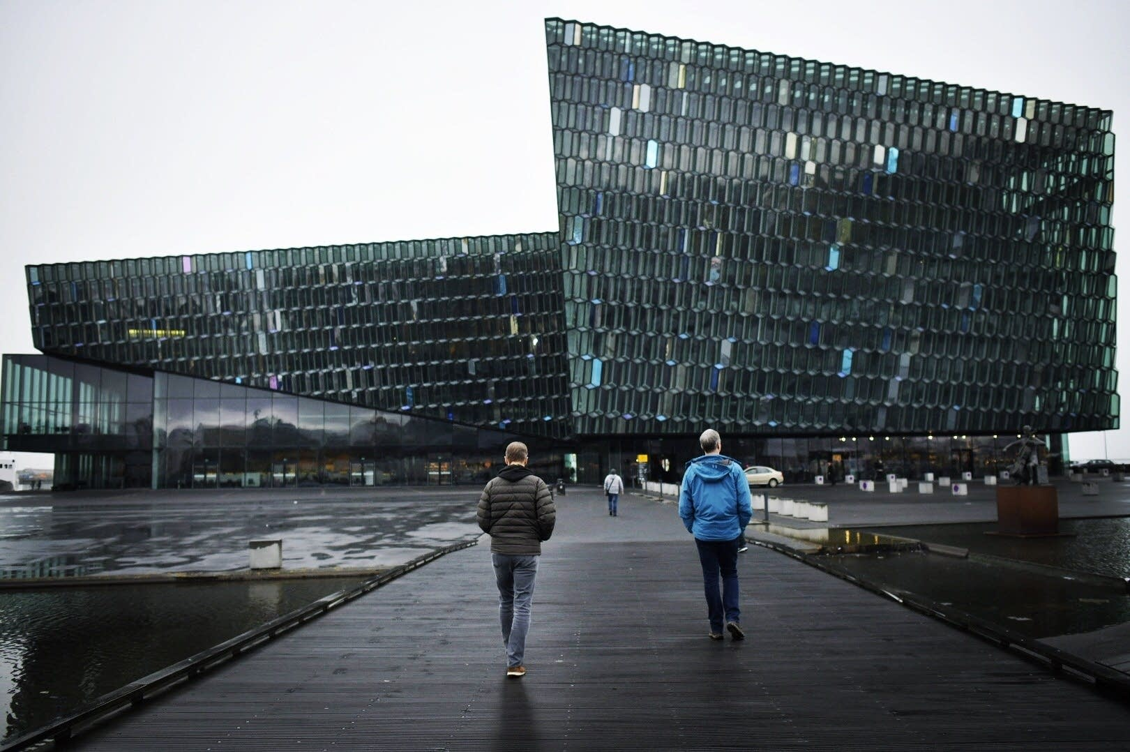 The Harpa concert hall and conference center in Reyjkavik