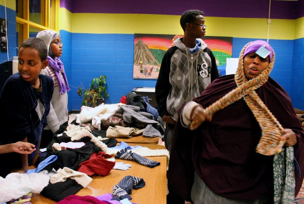 The Cedar-Riverside youth council's clothing drive