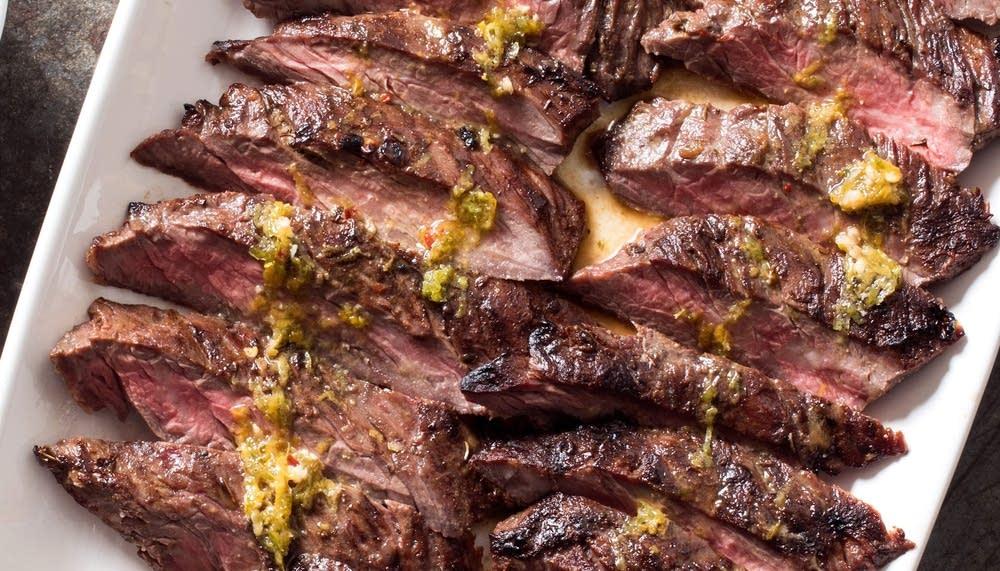 Grilled Mojo-Marinated Skirt Steak