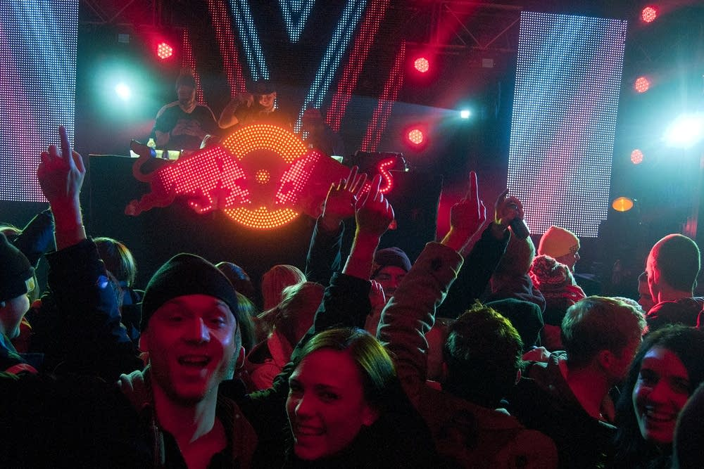 Crashed Ice spectators revel at an after party