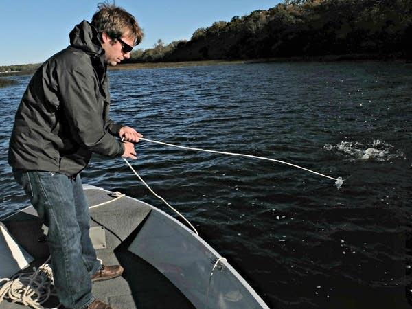 Pelican River Watershed asst. admin. Brent Alcott