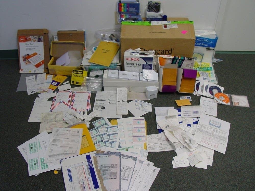 A cache of false documents