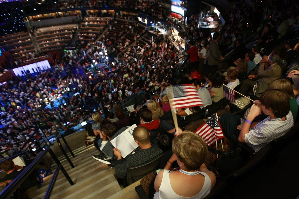 The crowd at the DNC